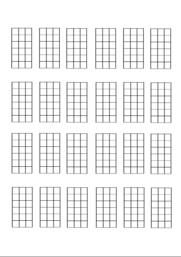 Banjo Chord Chart Template Blank Guitar Chord Chart Print It Out