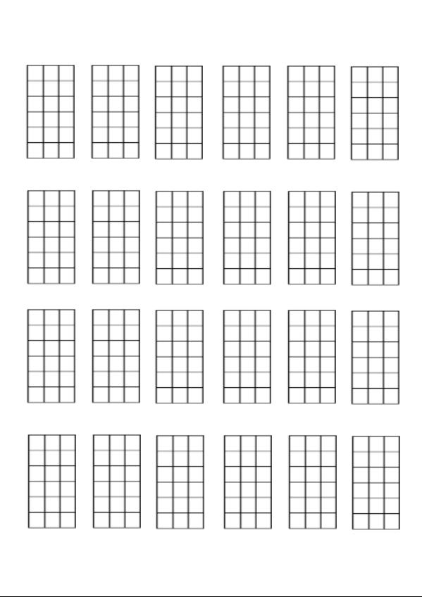 Charming Blank Chord Grids