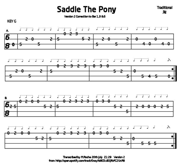 Saddle The Pony Mandolin Gdae Tab 200 Tunes So Far