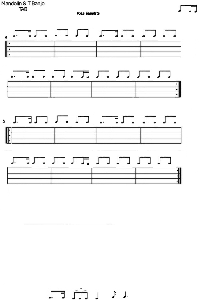 Polka template mandolin gdae tab 200 tunes so far for Tab templates for word