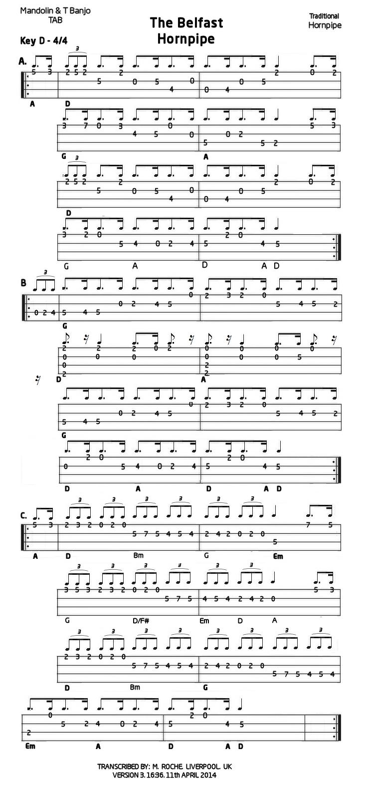 Belfast hornpipe mandolin gdae tab 200 tunes so far belfast hornpipe v3 11 4 2014 hexwebz Choice Image